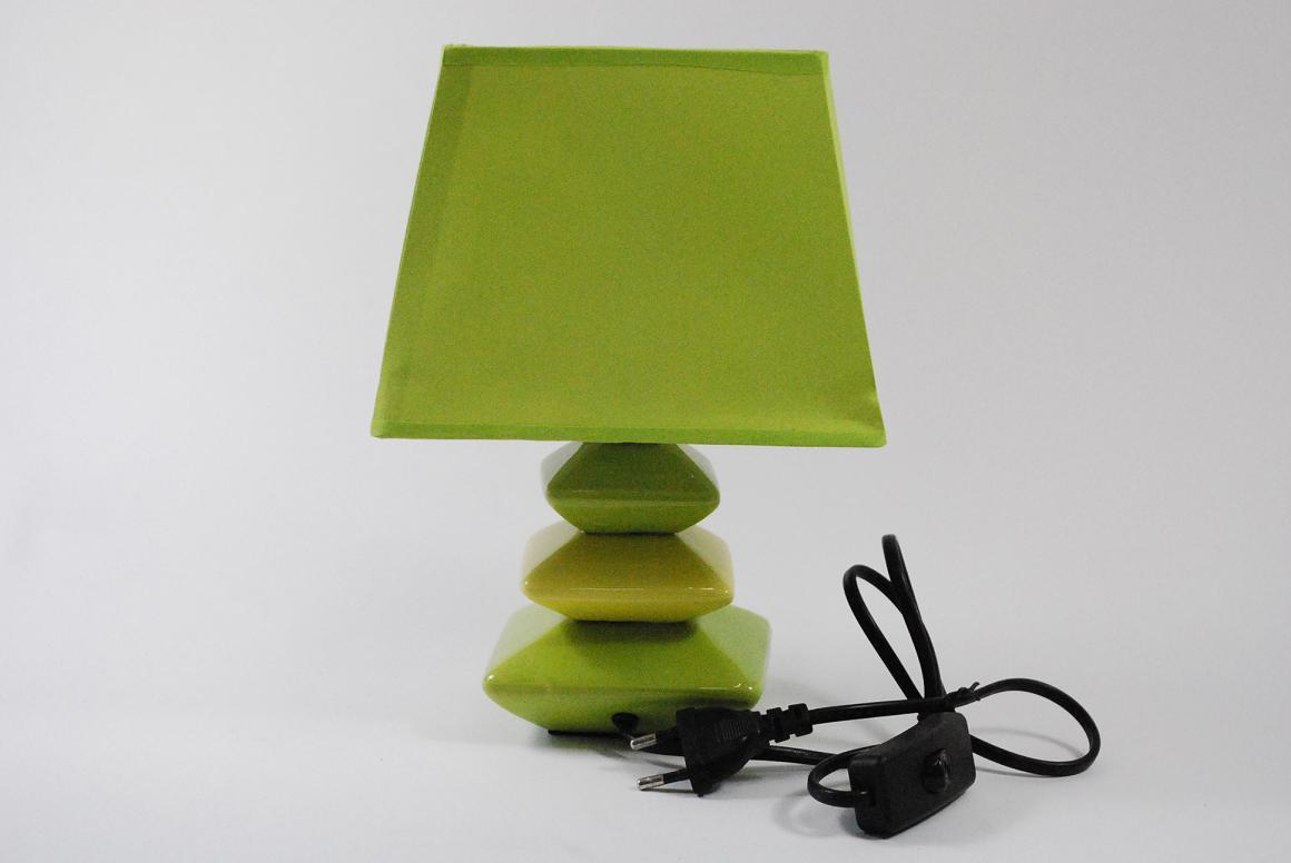 kleine moderne tischlampe nachttischlampe keramik stoffschirm ebay. Black Bedroom Furniture Sets. Home Design Ideas