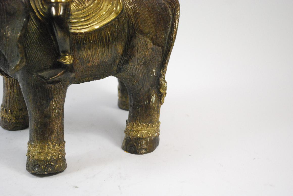 dekorativer buddha auf gl cks elefant bronze figur thailand 26 5x27x12 cm ebay. Black Bedroom Furniture Sets. Home Design Ideas