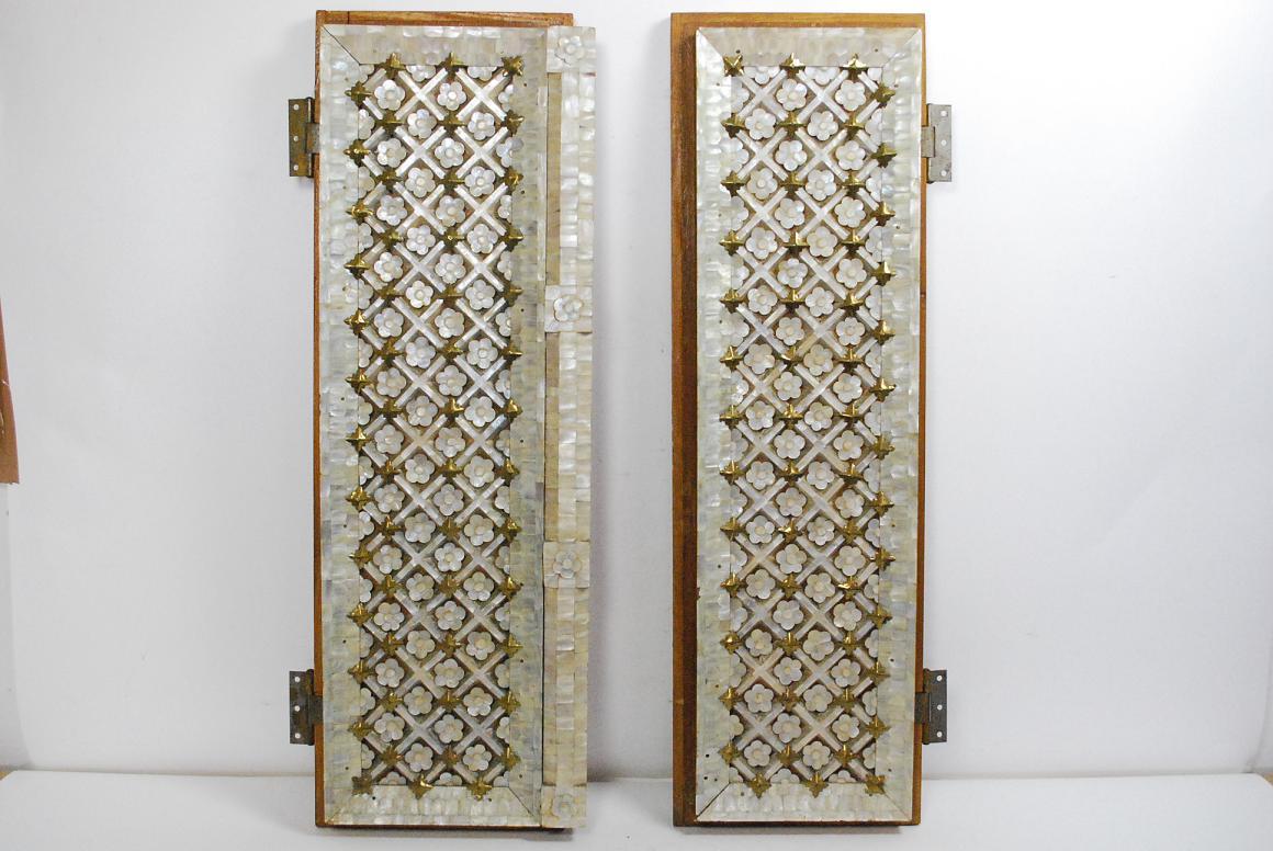 Altar t re tempelfenster holz mit perlmutt verziert Antik deko shop