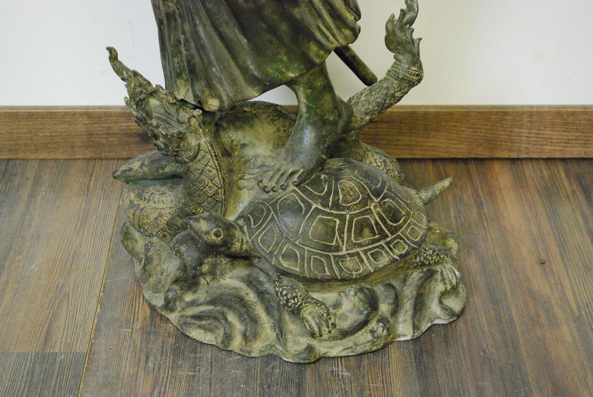 96cm bronze skulptur gottheit shiva a drache u Antik deko shop