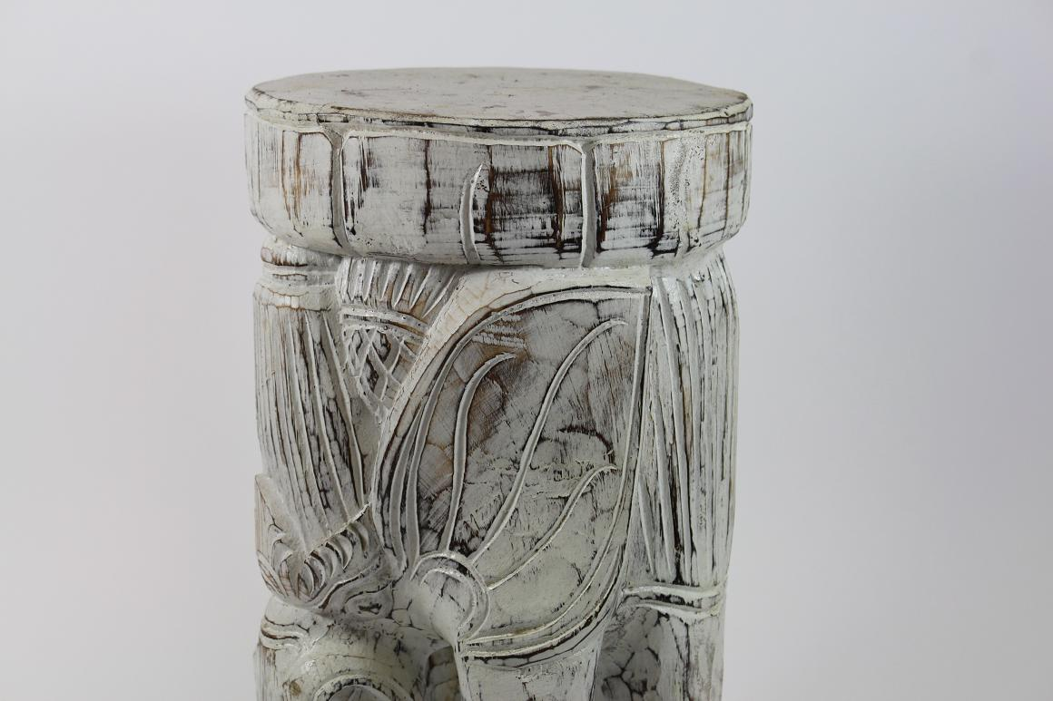 48 cm hocker skulptur elefant holz geschnitzt wei shabby Antik deko shop