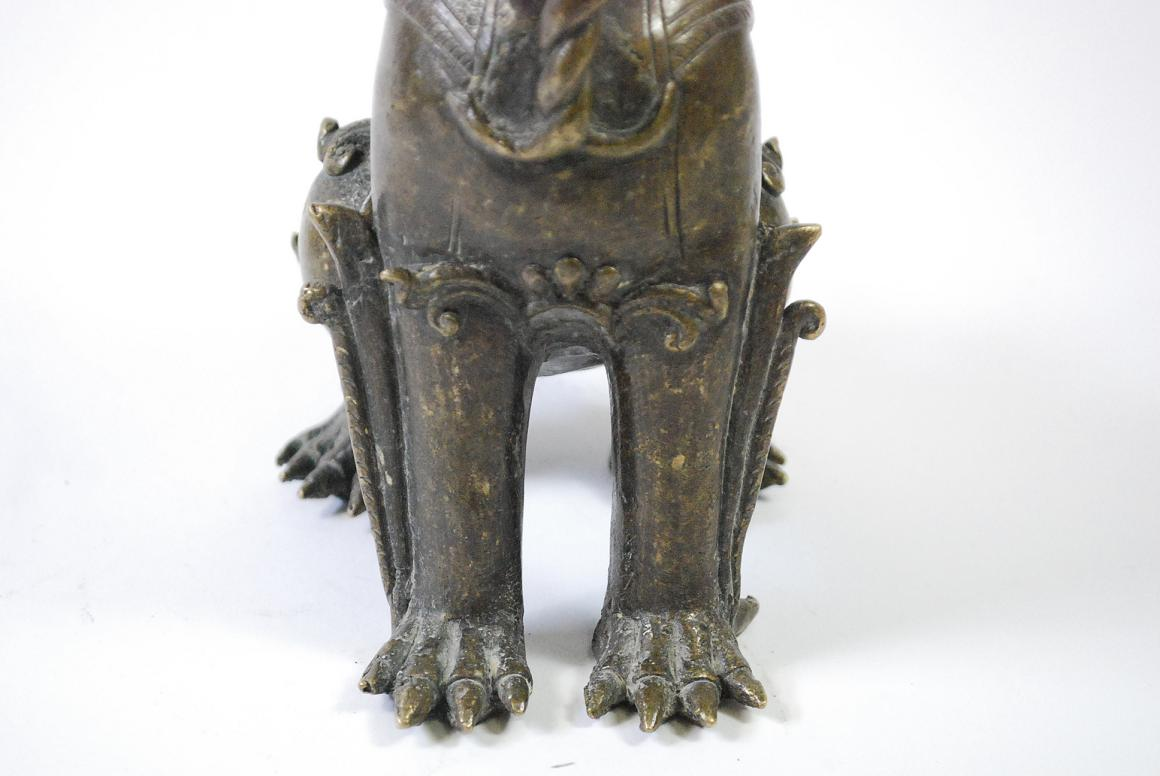 Skulptur bronze tempel l we drache burma myanmar wohl 19 Antik deko shop