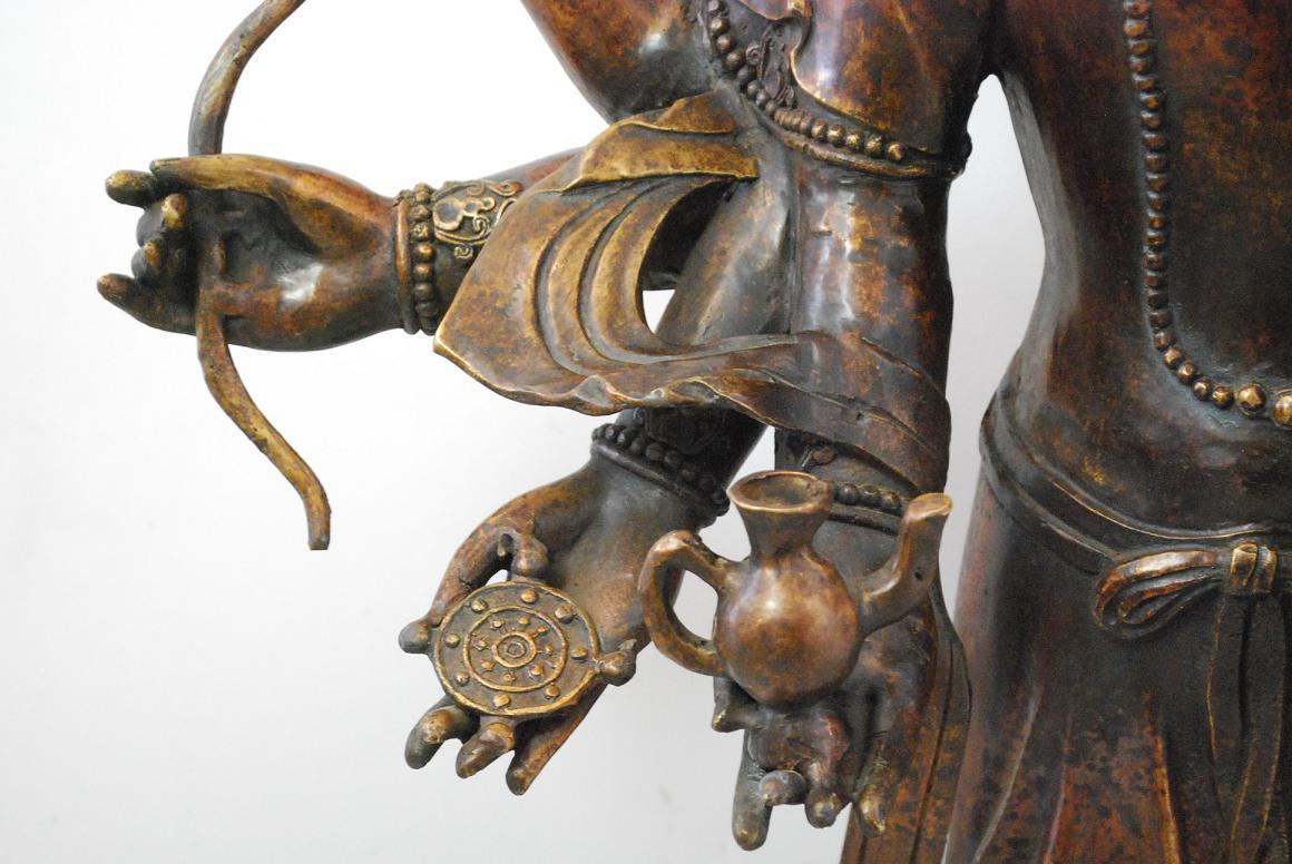 115 cm bronze skulptur g ttin tara ushnishavijaya buddha Antik deko shop