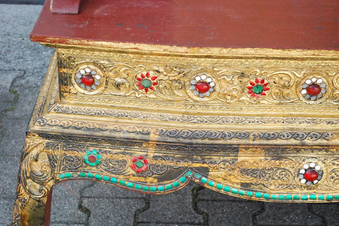 167 cm prunk herrscher thron sessel stuhl holz burma Antik deko shop