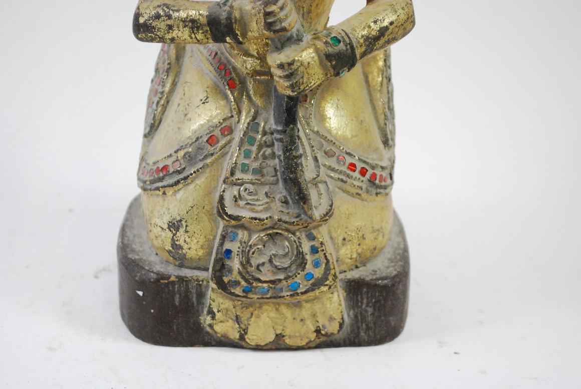 Skulptur wasserg ttin holz vergoldet burma myanmar wohl 19 Antik deko shop