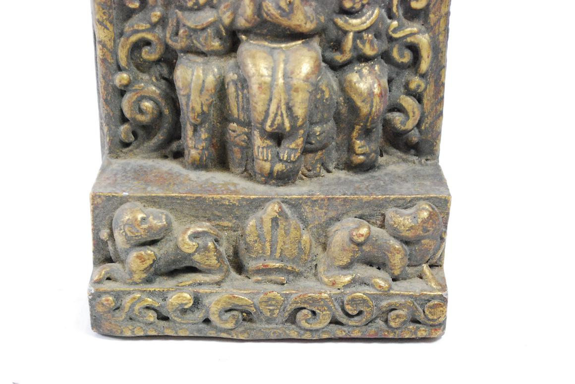 Relief skulptur altar buddha holz wachs burma myanmar wohl Antik deko shop