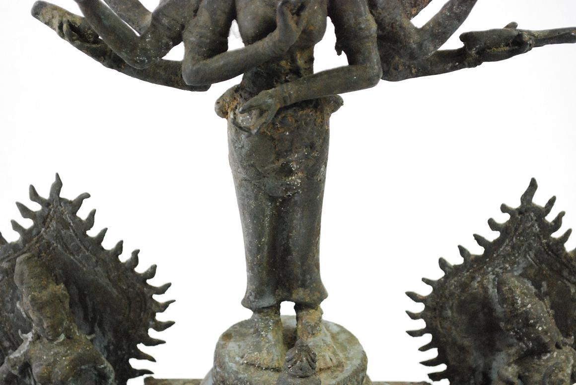 Bronze skulptur g ttin parvati m buddha assistenzfiguren Antik deko shop