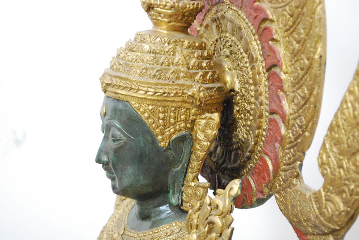 91cm skulptur gottheit master buddha bhumisparsha mudra Antik deko shop