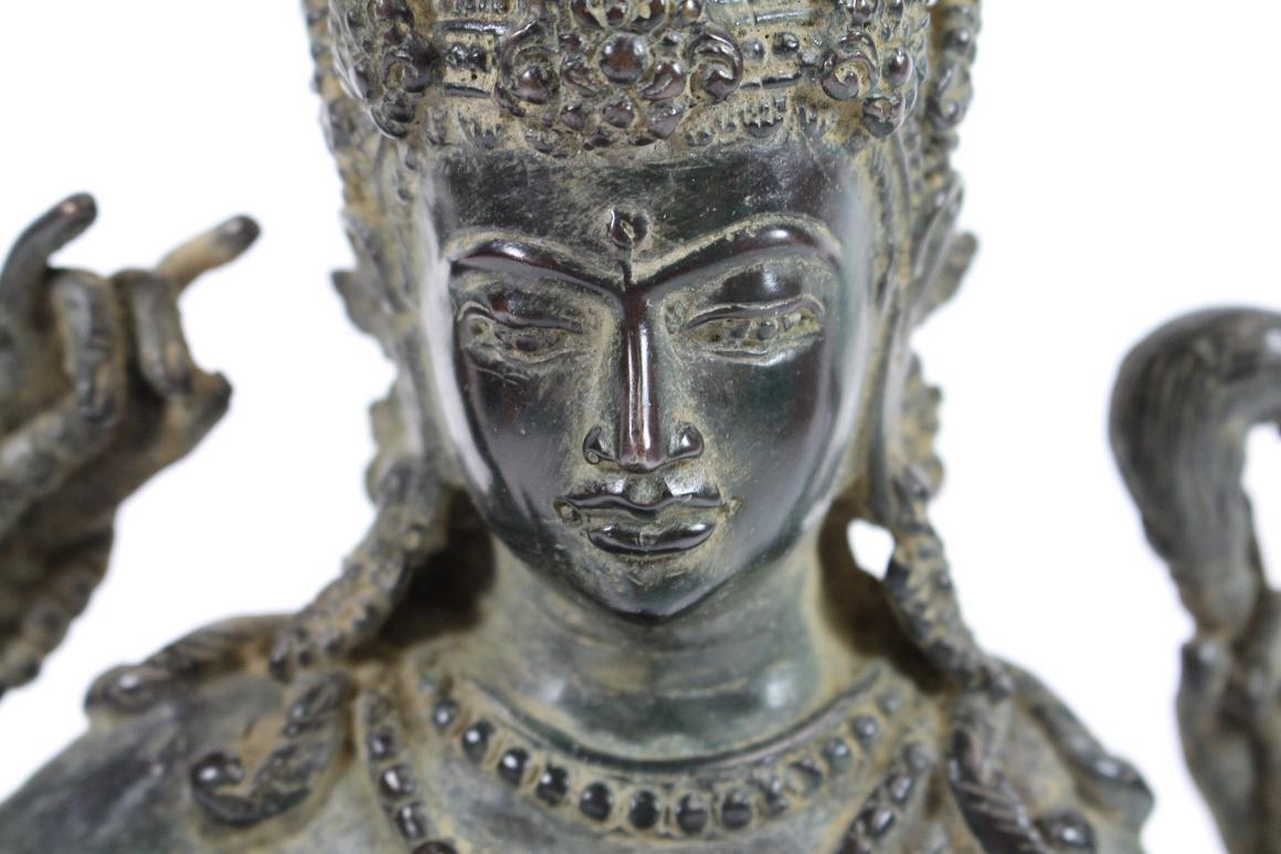 Sch ne bronze skulptur 4 armige gottheit shiva s dostasien Antik deko shop