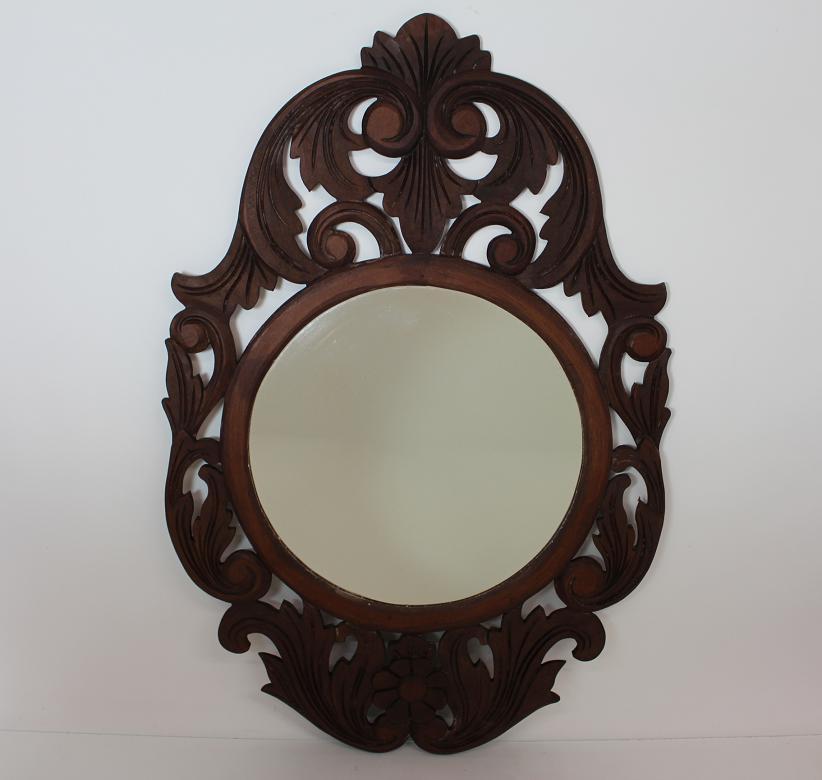 90x60 cm wand spiegel im barock rahmen braun barock stil for Spiegel 90x60