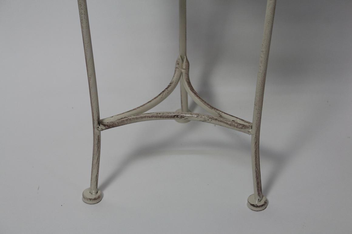 45 cm garten balkon blumenst nder beistelltisch metall wei antik stil ebay. Black Bedroom Furniture Sets. Home Design Ideas