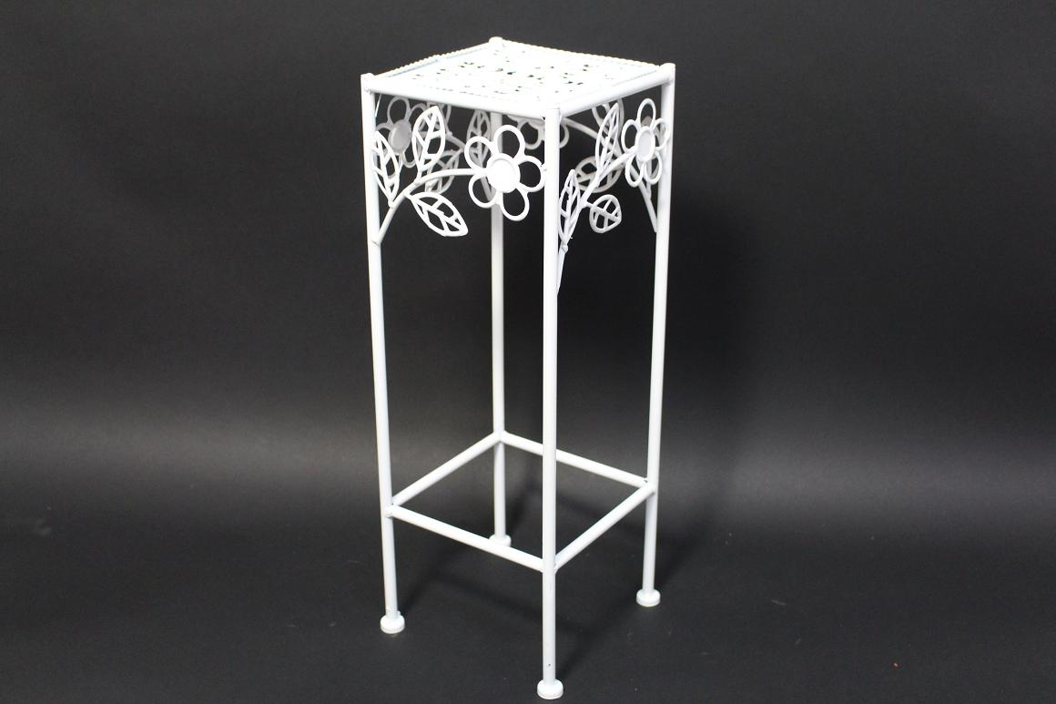 50 cm garten balkon blumenst nder beistelltisch metall wei blumendekor ebay. Black Bedroom Furniture Sets. Home Design Ideas