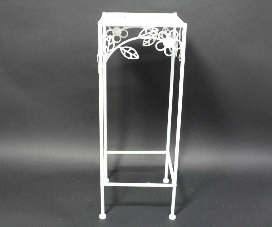 60 cm garten balkon blumenst nder beistelltisch metall wei blumendekor ebay. Black Bedroom Furniture Sets. Home Design Ideas