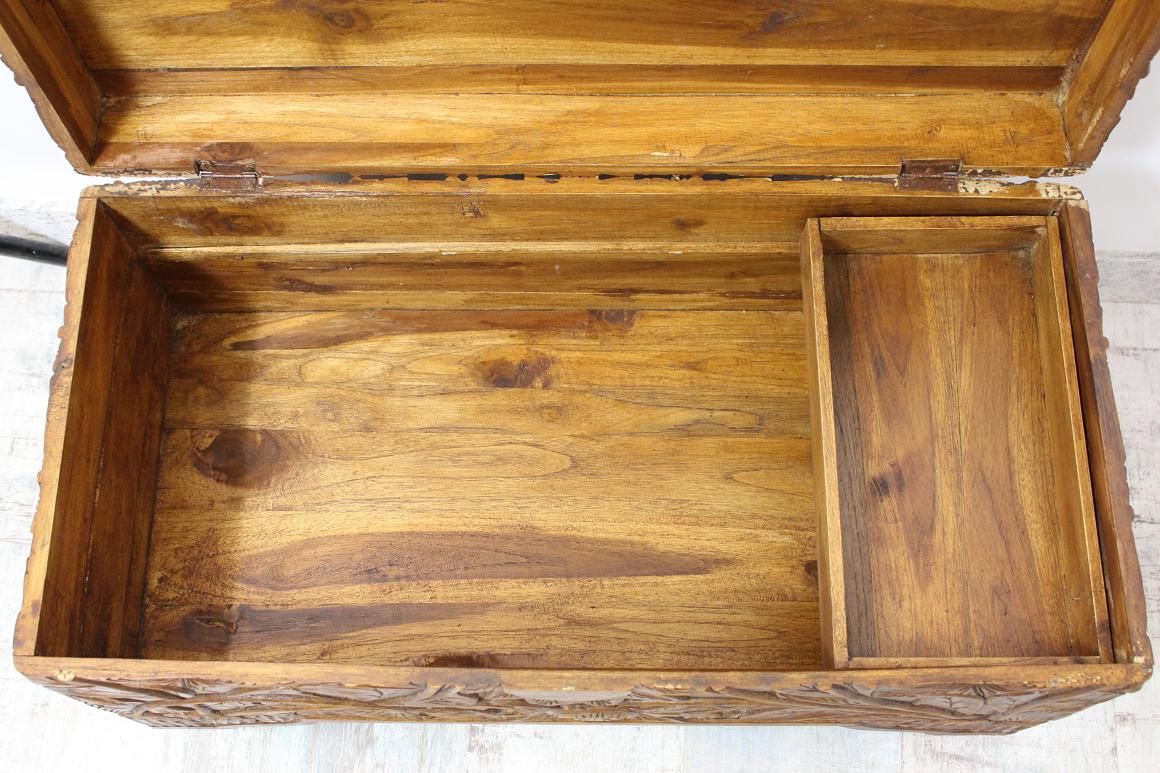 80x40x40 cm truhe mit einsatz holz komplett floral beschnitzt im jugendstil ebay. Black Bedroom Furniture Sets. Home Design Ideas