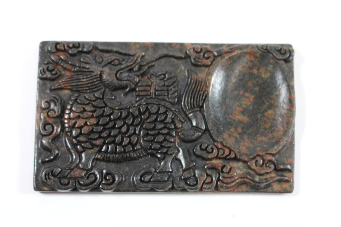 tuscheschale jade stein platte beschnitzt drache china wohl 19 jhd ebay. Black Bedroom Furniture Sets. Home Design Ideas