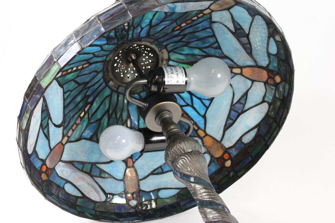 edle tischlampe art jugendstil tiffany glasmosaik libelle ebay. Black Bedroom Furniture Sets. Home Design Ideas